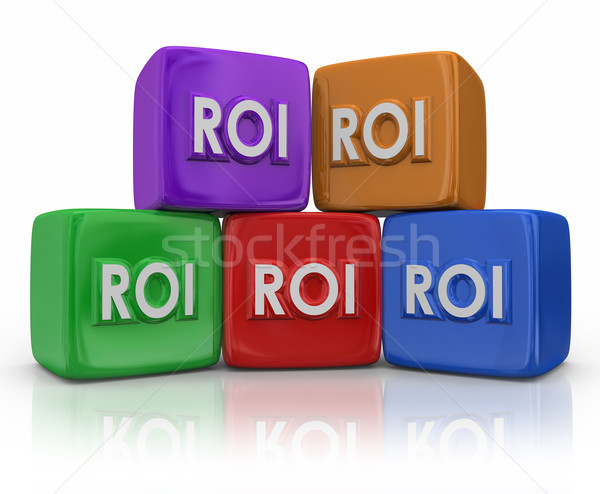 ROI Return On Investment Cubes Blocks Stock photo © iqoncept