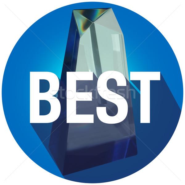 лучший награда символ печать долго тень Сток-фото © iqoncept