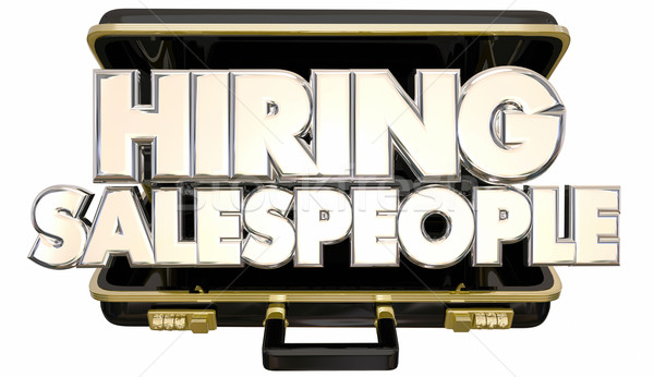 Hiring Sales People Job Help Wanted Briefcase 3d Words Stock photo © iqoncept