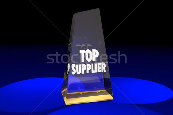 Top Supplier Vendor Provider Award Words 3d Illustration Stock photo © iqoncept