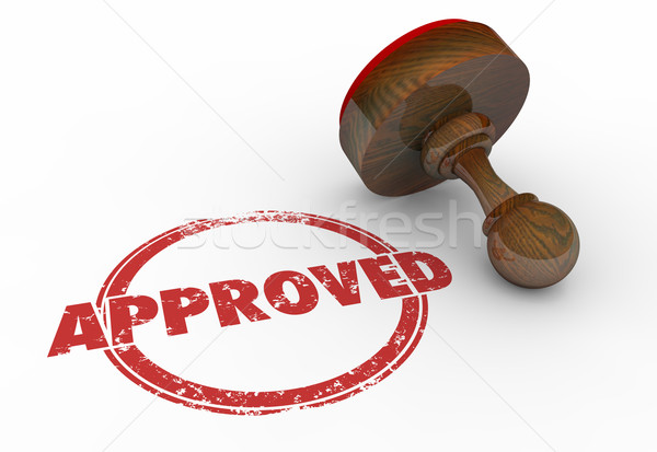 Approved Red Round Stamp Word Accepted 3d Illustration Stock photo © iqoncept
