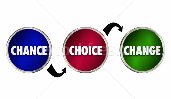 Chance Choice Change Circles Arrows Future Path Options 3d Illus Stock photo © iqoncept