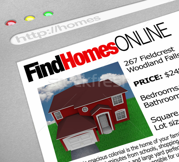Find Homes Online - Web Screen Stock photo © iqoncept