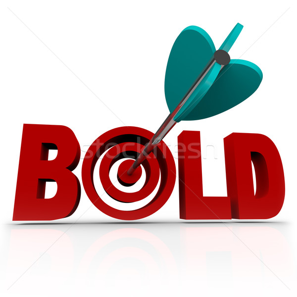 Bold - Arrow in Word Bullseye - Be Aggressive Stock photo © iqoncept