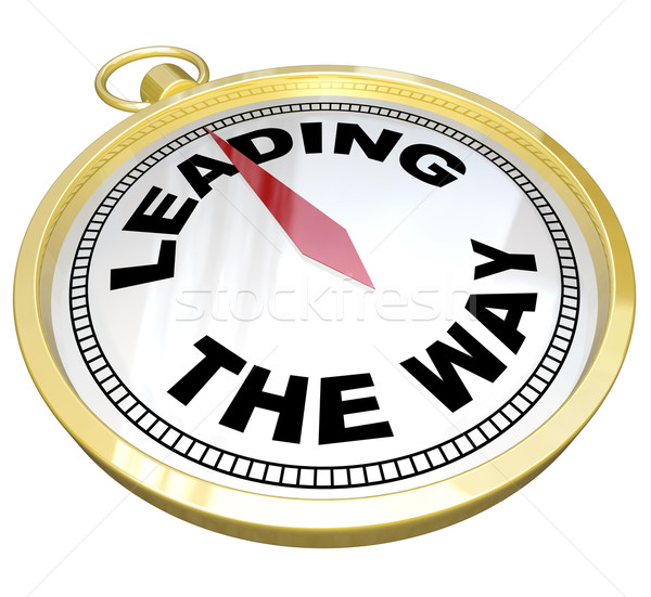 Compass - Leading the Way with Leadership of Group Stock photo © iqoncept