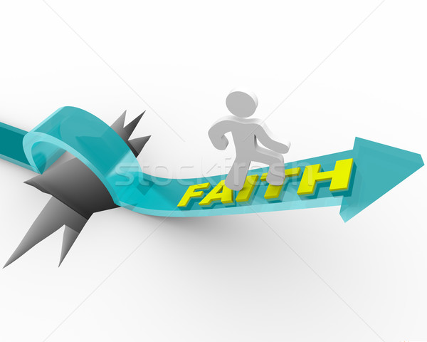 Faith - A Man's Beliefs Save Him Stock photo © iqoncept
