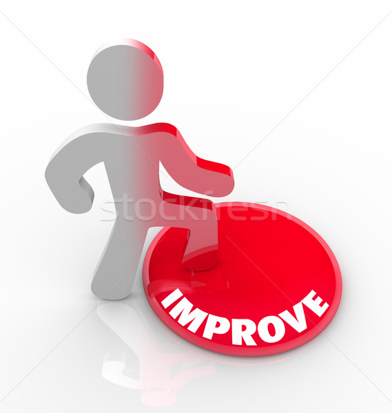 Improve - Person Steps on Button and Changes Growth Stock photo © iqoncept