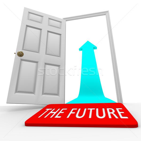 The Future - Door Mat Open Door Arrow Stock photo © iqoncept