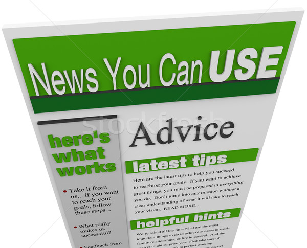 Advice eNewsletter Tips Hints Support Ideas Newsletter Stock photo © iqoncept