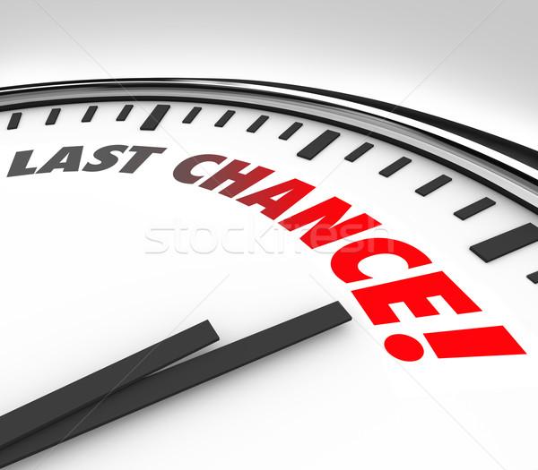 Laatste kans klok finale countdown termijn Stockfoto © iqoncept