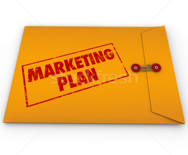 Stock photo: Confidential Marketing Plan Envelope Secret Strategy
