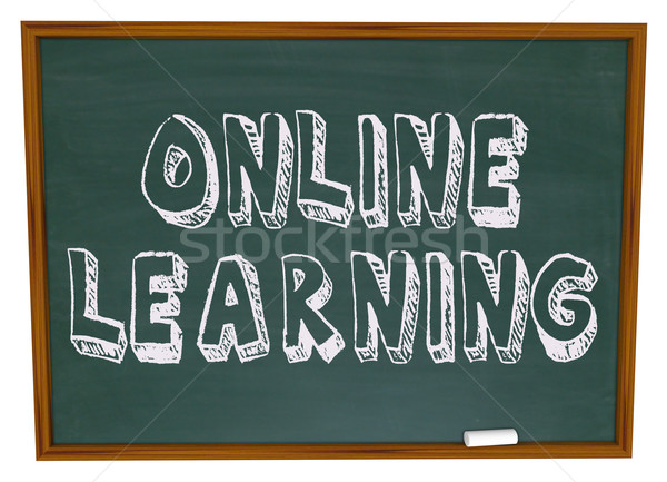 Online Learning - Chalkboard Stock photo © iqoncept
