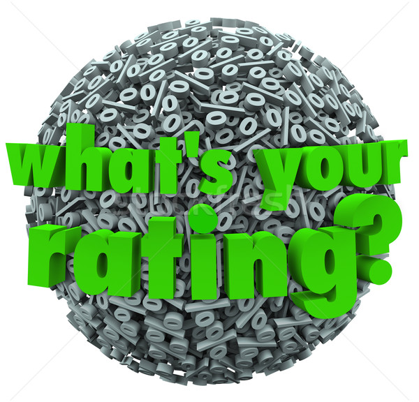 What's Your Rating Percent Sign Score Percentage Stock photo © iqoncept