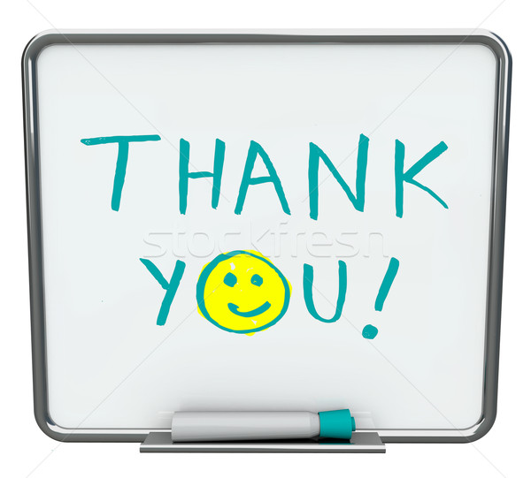Thank You on Dry Erase Board Stock photo © iqoncept