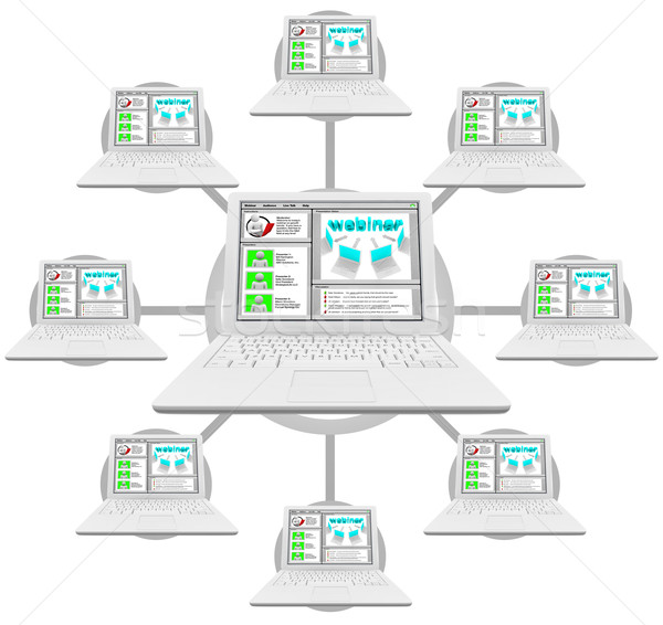 Webinar - Network of Linked Computers Stock photo © iqoncept