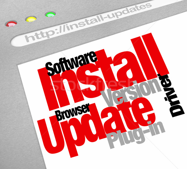 Software programa on-line computador atualizar Foto stock © iqoncept