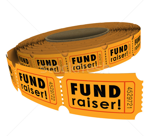 Fundraiser 50 Fifty Raffle Ticket Roll Charity Event Raising Mon Stock photo © iqoncept