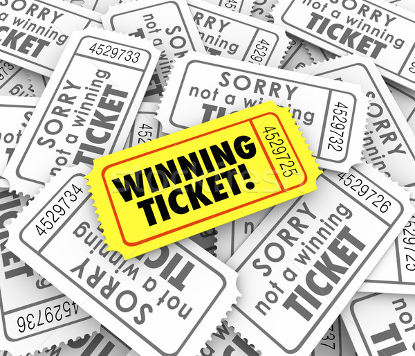 Winning Ticket One Unique Winner Raffle Lottery Prize Stock photo © iqoncept