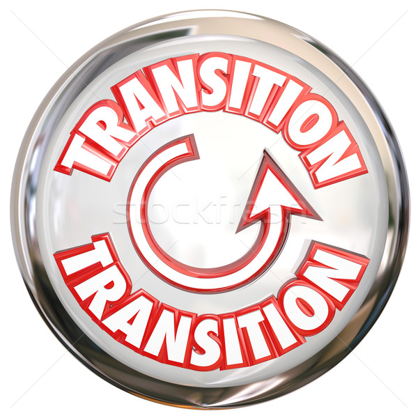 Transition Word White Button Icon Change Process Cycle Stock photo © iqoncept