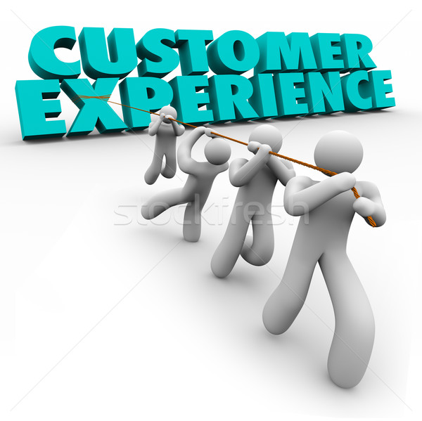 Customer Experience Workforce Clients Pulling Words Satisfaction Stock photo © iqoncept