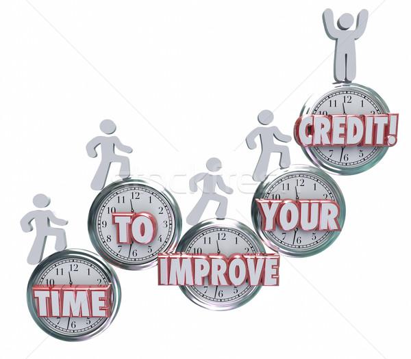 Idő javít kredit emelkedő órák jobb Stock fotó © iqoncept