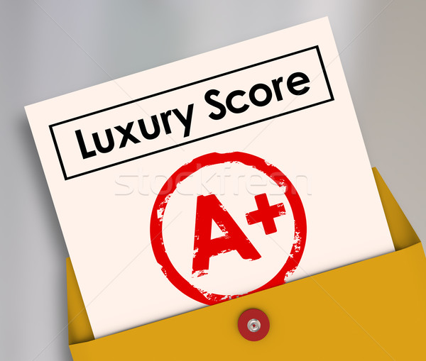 Luxe score rapport carte richesse Photo stock © iqoncept