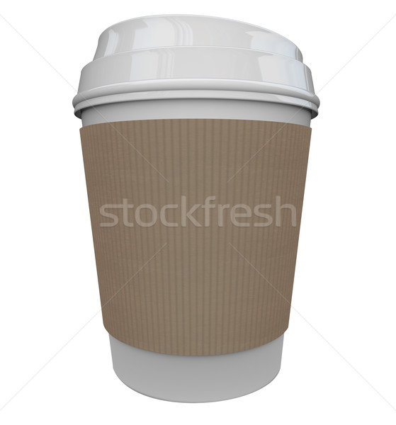 Coffee Plastic Cup Morning Java Drink Caffeine Blank Copy Space Stock photo © iqoncept