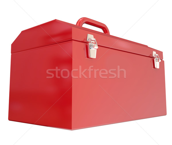 Red Metal Closed Toolbox Build Construction Project Stock photo © iqoncept