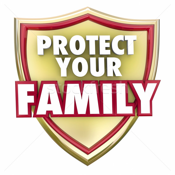 Protect Your Family Gold Shield Home Security Safety Stock photo © iqoncept