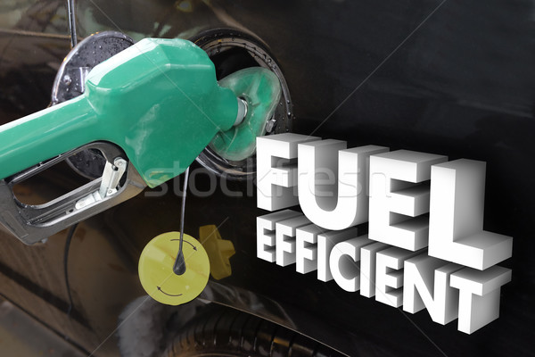 Fuel Efficient Words Gasoline Power Filling Tank Station Stock photo © iqoncept