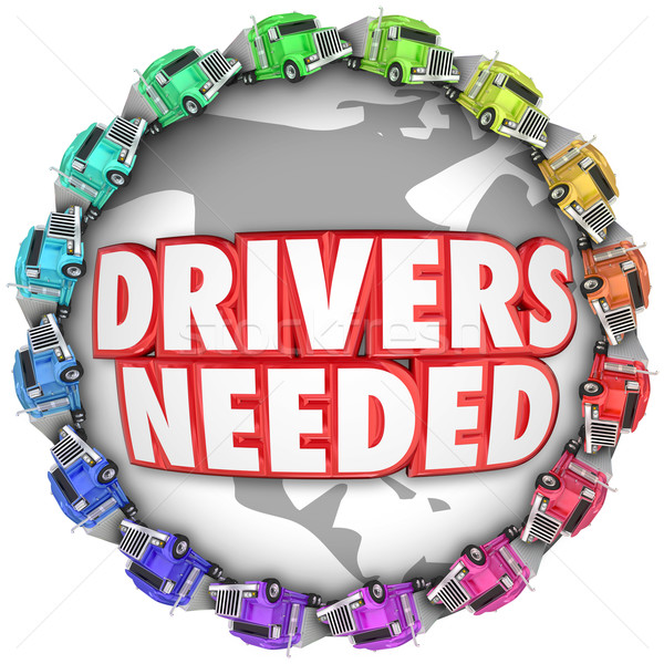 Drivers Needed Trucks Around World International Trucker Hiring  Stock photo © iqoncept
