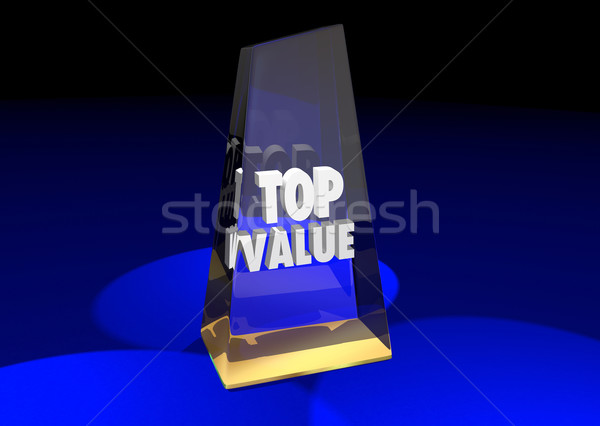 Top Value Rated Product Review Recommendation Award 3d Illustrat Stock photo © iqoncept