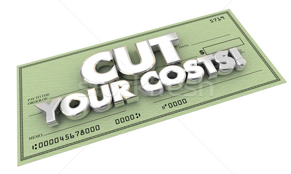 Cut Your Costs Bills Check Words 3d Illustration Stock photo © iqoncept