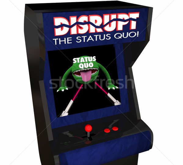 Disrupt Status Quo Change Innovate Video Game 3d Illustration Stock photo © iqoncept