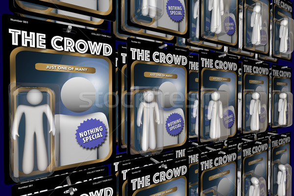 The Crowd Same Group People Action Figures 3d Illustration Stock photo © iqoncept