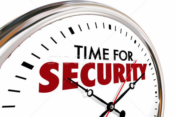 Time for Security Safety Protection Clock 3d Illustration Stock photo © iqoncept
