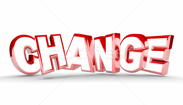Change Different New Adaptation Word 3d Illustration Stock photo © iqoncept