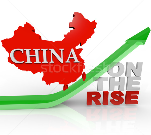 China on the Rise - Country Map on Arrow Stock photo © iqoncept