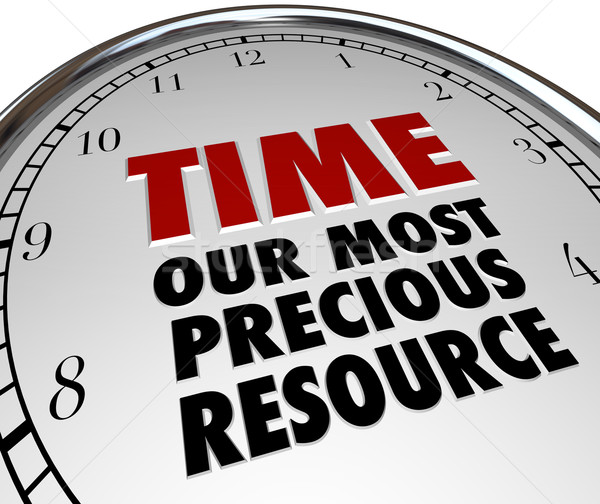Stock photo: Time Our Most Precious Resource Clock Shows Value of Life