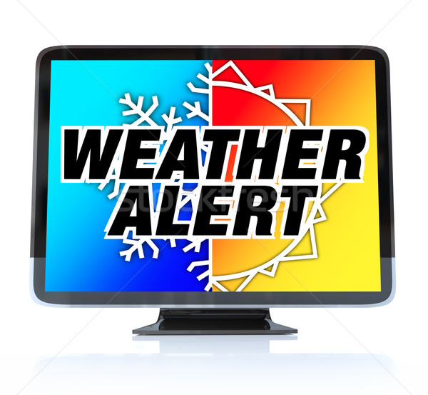 Weather Alert - High Definition Television HDTV Stock photo © iqoncept
