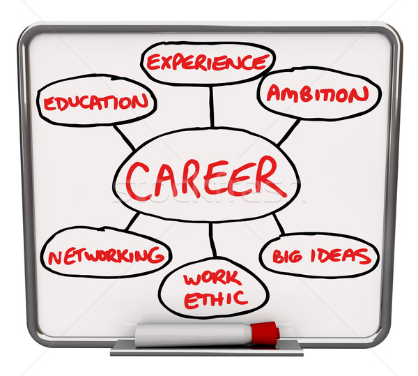 Career Diagram Dry Erase Board How to Succeed in Job Stock photo © iqoncept