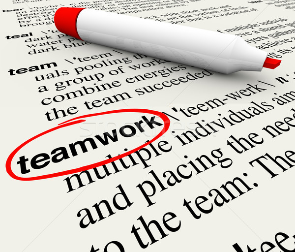 Teamwork Dictionary Definition Word Circled Stock photo © iqoncept