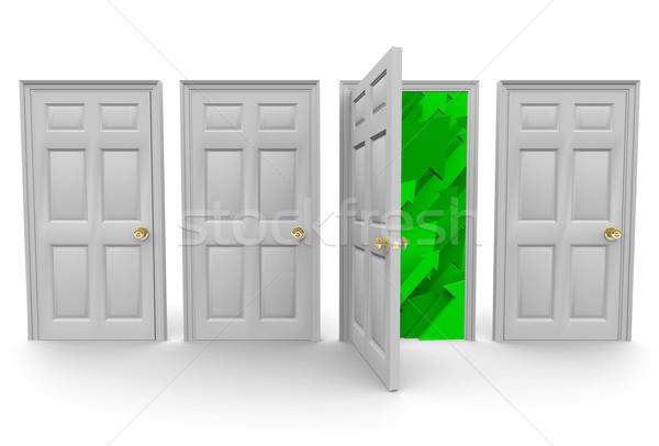 Сток-фото: право · двери · успех · четыре · дверей