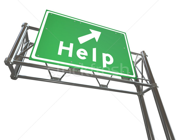Freeway Sign - Help - Isolated Stock photo © iqoncept