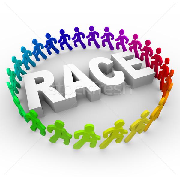 Race - Runners Around World Stock photo © iqoncept