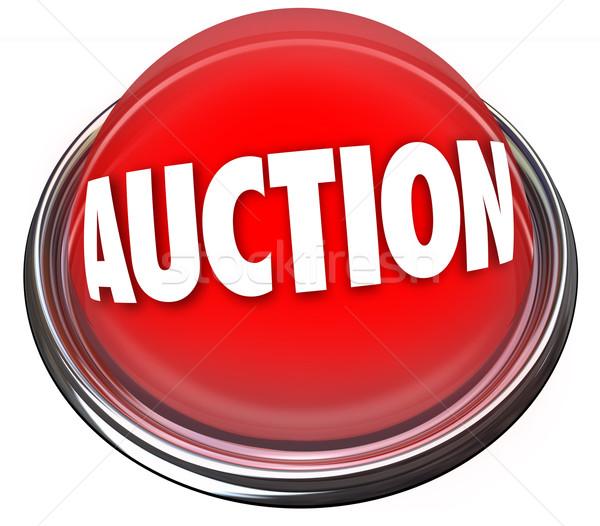 Auction Button Flashing Light Item Sale Highest Bidder Stock photo © iqoncept