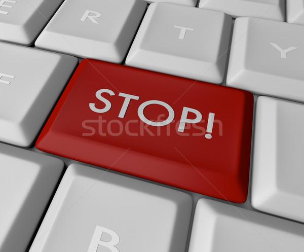 Green Go Key Button Stock photo © iqoncept