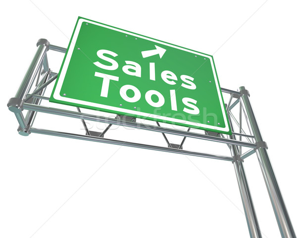 Sales Tools Road Freeway Sign Selling Techniques Stock photo © iqoncept