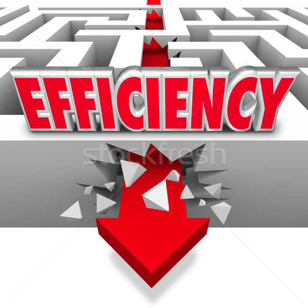 Efficiency Arrow Breaking Barriers Better Effective Results Stock photo © iqoncept