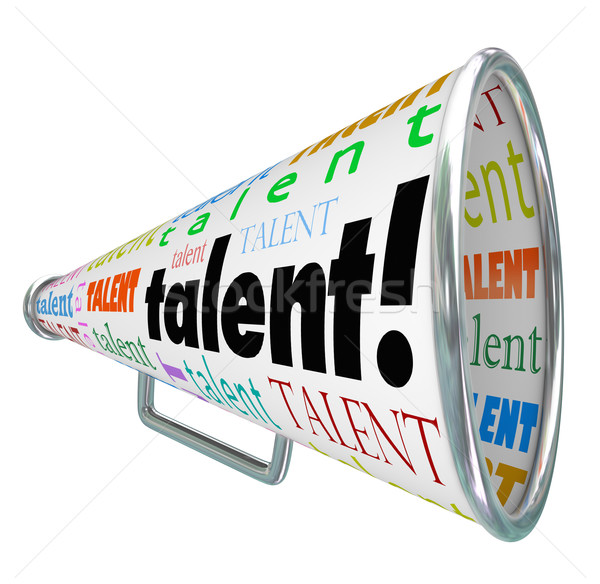 Talent Bullhorn Megaphone Calling Skilled Workers Job Prospects  Stock photo © iqoncept